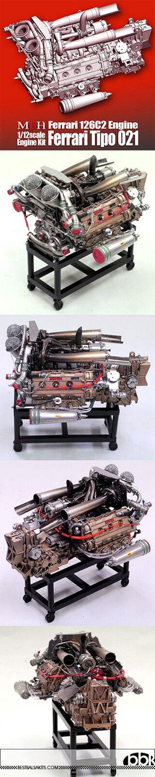 1 12 MFH HIRO FERRRARI 126C2 F1 MOTORE modello STe ALONE per TAMIYA DOYUSHA OTAKI