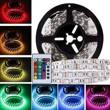 5M RGB 5050 SMD Non waterproof 300 LED Light Strip 24Key IR Remote LED Tape US