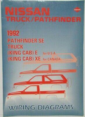 1992 nissan truck king cab & pathfinder se electrical wiring diagram manual  | ebay  ebay