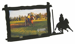 Pole-Bending-Rodeo-Horse-Picture-Frame-5-034-x7-034-H