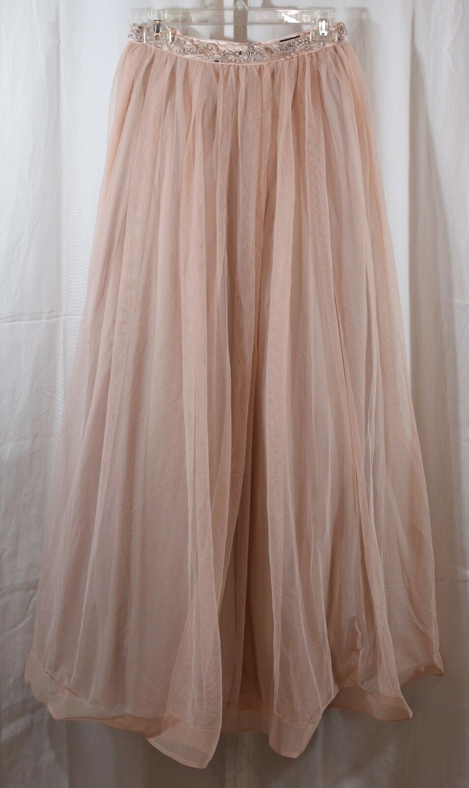 Sequin Hearts Beaded Lace Two-Piece Gown Skirt Only Size 5