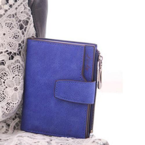 Mode Femme à Deux Volets Pochette Portefeuille Fermeture Éclair Porte-Monnaie