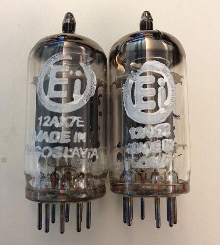 2 NOS MATCHED Ei ELITE 12AX7E ECC83 SMOOTH PLATE TUBES for DAC Preamp Amp