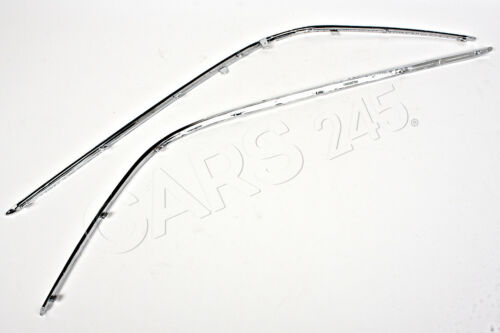Mercedes C Class W203 Saloon 2001-2006 Front Bumper Chrome Trims Mouldings PAIR