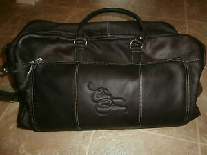 Celine Dion VIP Package Las Vegas Leather Carry Bag 19x6x8 New | eBay