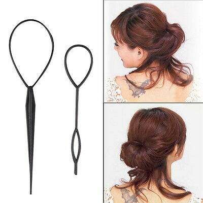 2pcs Topsy Tail Hair Braid Ponytail Maker Styling Tool  KK
