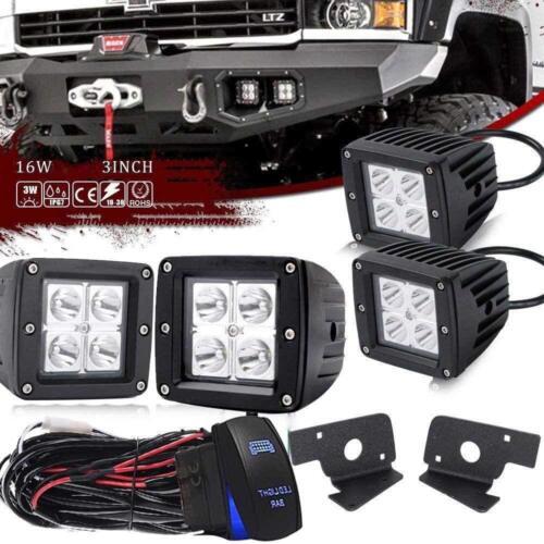 FOR 20070-2014 chevy 1500 2500 3500 3x3 inch LED PODS FOG LIGHTS Brackets KIT
