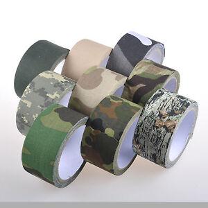 "Camo Cloth Tape Roll 1.96"" x 32.8 Feet Hunting Camouflage Wrap Gun Bow"