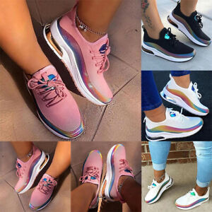 Women-Lace-Up-Breathable-Trainers-Sports-Running-Gym-Sneakers-Walking-Shoes