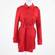 Red cotton blend KENNETH COLE REACTION double breasted long sleeve trench coat L
