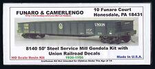 Funaro F&C 8140  URR UNION Railroad  50' GONDOLA Steel Service Mill  1936-1970's