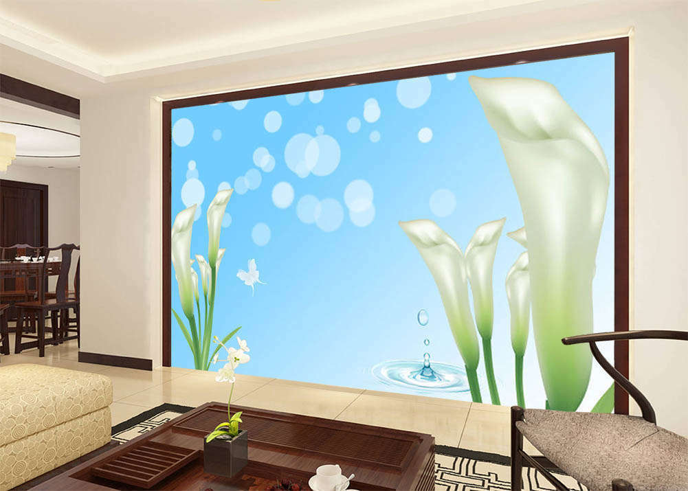 Pure Blau Environment 3D Full Wall Mural Photo Wallpaper Print Home Kids Decor