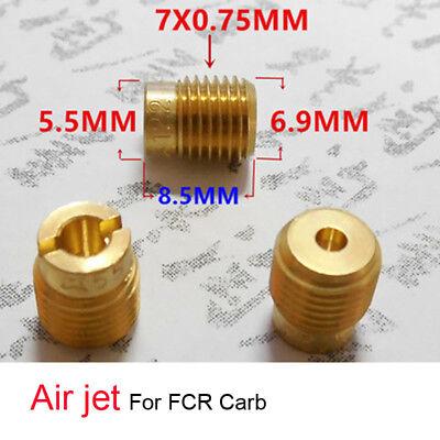 Vergaser 7mm Gewinde Luftstrom Hauptdüsen für FCR Kawasaki WH100T Größe 128-200