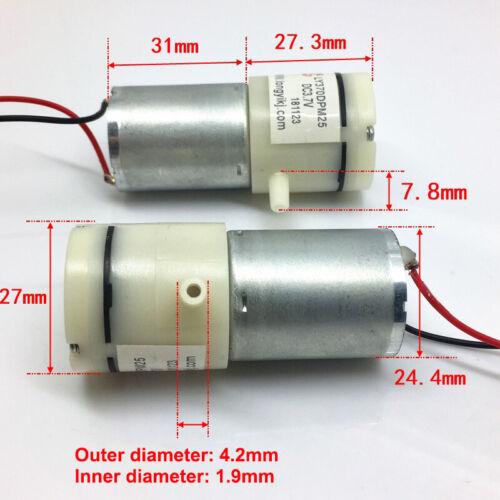 DC 3V 3.7V Small Mini 370 Motor Air Pump Mini Vacuum Suction Pump Diaphragm Pump