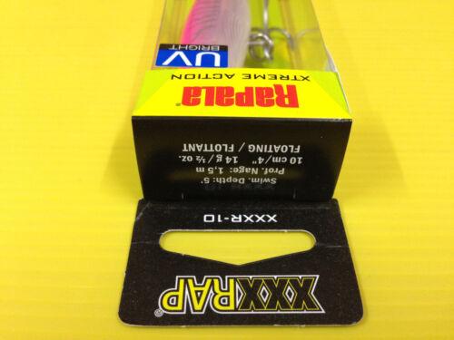 Rapala Heavy Duty XXX RAP XXXR-10 HPU Hot Pink UV Color Jerkbait Lure.