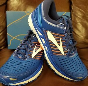 3fe38d4f2a963 BRAND NEW IN BOX! BROOKS TRANSCEND 5 MENS RUNNING SHOES BLUE ORANGE ...