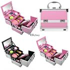 Portable Makeup Train Cosmetic Case Kit Aluminum Box Small Storage Organizer EY