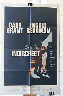 "Indiscreet Original Movie Poster (1958) 27""x41"" FINE"