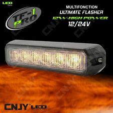 FEUX PENETRANT E9 CE- 6 LED 12W-FLASHER STROBOSCOPIQUE AUTO CAMION 12/24V ORANGE