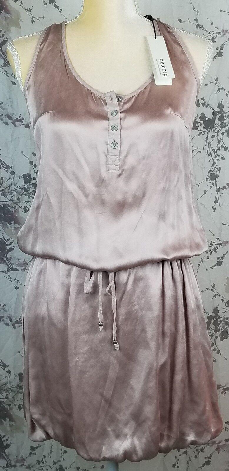 BNWT Esprit de Corp Womens Dress Size 4 Mauve Sleeveless 100% Silk SUPER CUTE
