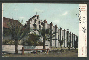 1904-SAN-GABRIEL-MISSION-CALIFORNIA-UDB-UNDIVIDED-BACK-POSTCARD-LA-Station-C