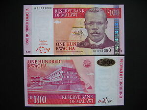 Unc We Have Won Praise From Customers Steady Malawi 100 Kwacha 31.10.2005 p54a