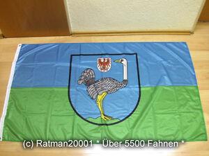 Fahne Flagge Strausberg Brandenburg Digitaldruck - 90 x 150 cm