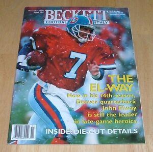 Details About Beckett Baseball Card Monthly November 1996 John Elway Denver Broncos