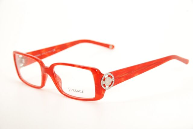 Authentic Versace Mod 3092-b 652 Red/silver 51mm Frames Eyeglasses ...