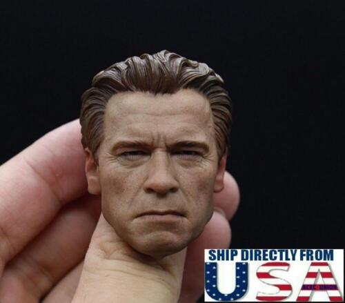 1//6 Arnold Schwarzenegger Head Sculpt OLD Terminator T800 For Hot Toys PHICEN