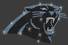 2337e23a8 Carolina Panthers NFL Football Sexy Hotfix Iron On Rhinestone Shirt Transfer