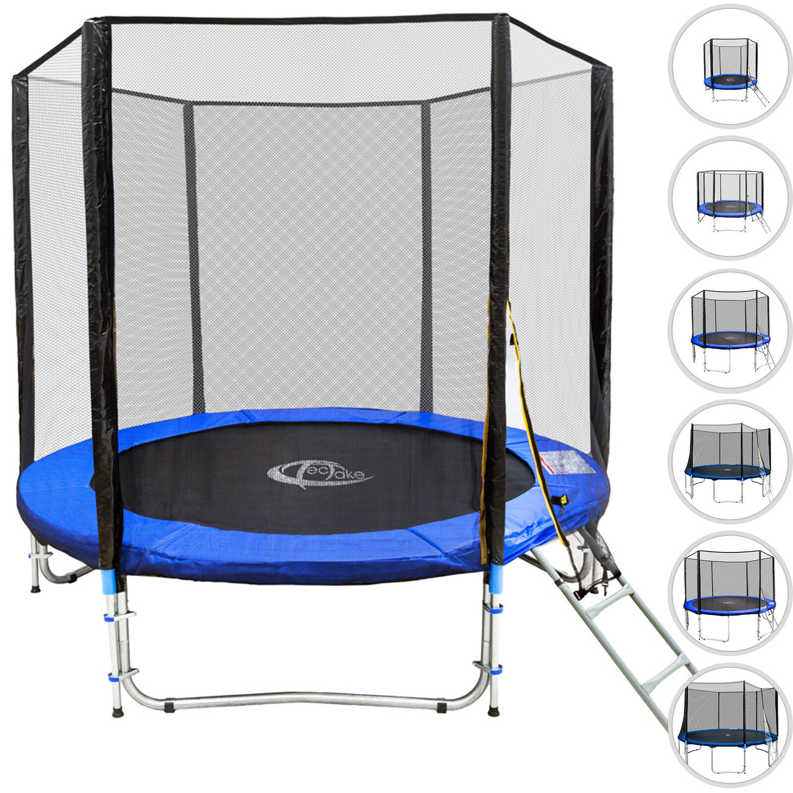 Trampoline jardin de jardin Trampoline set complet avec filet de sécurité et échelle b79a1d