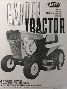 Details about MTD Lawn Garden Tractor Owner & Parts Manual 148-650 148-655  148-660 148-665