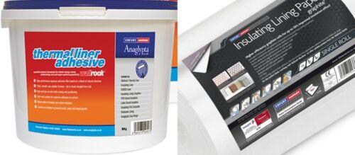 4 x 4mm Erfurt Graphite Insulating Lining Paper 10kg Thermal Liner Adhesive