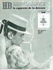 PUBLICITE ADVERTISING 115  1965  HB cigarettes Par Philip KELER