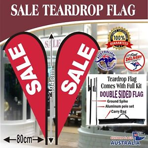 Sale-Double-Sided-Teardrop-Flag-With-Full-Kit-Red-Sale-Flag