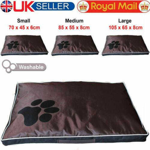 De Lujo Perro Mascota Estera Suave Cojín Almohada Cálido Colchón Negro a Prueba De Agua Cubierta de Reino Unido
