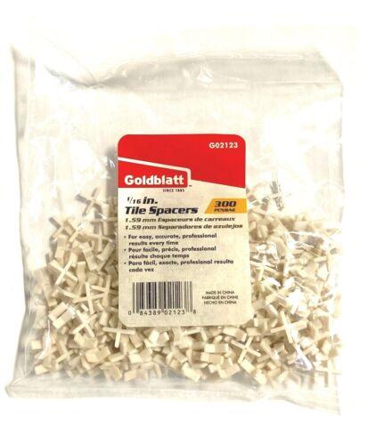 "Goldblatt 1//16/"" Wall Tile Spacers Tombstone Style 300 Pack G02123"