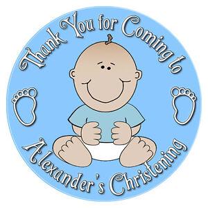 Details Zu Personalisiert Baby Junge Taufe Aufkleber Umschlag Tasche Etiketten Siegel