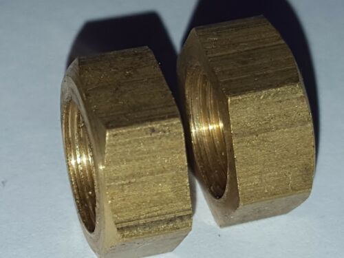 Pair of Brass Fixing Nuts Austin A30 A35  Lucas L516 Side Lamps Lights