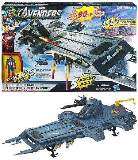 Vehículo de película Los Vengadores el exclusivo Shield HeliCocherier Jugarset Capitán América