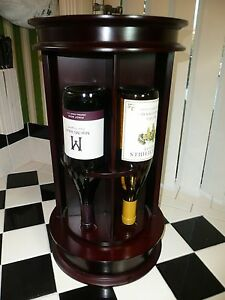 Vintage Bombay Company Rotating Wine Caddy Display Storage ...