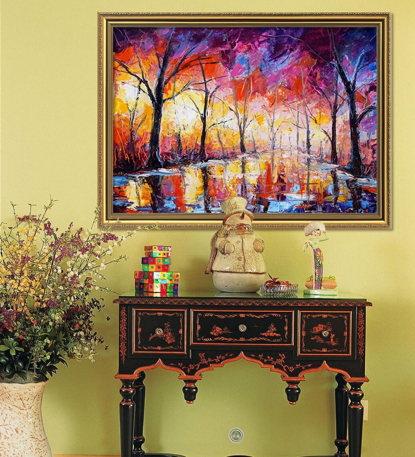 3D Road color Painting 1 Framed Poster Home Decor Print Painting Art WALLPAPER
