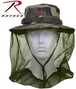 5c3df990468 New Boonie Hat Woodland Camo Military Boonie Hat W  Mosquito Netting ...