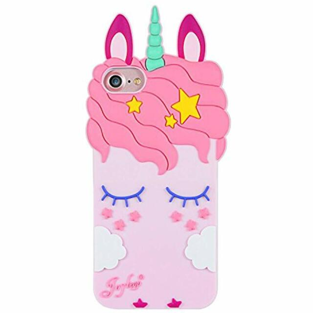 low priced 170d1 3f17c iPhone Cases SE Case 5s 5c Pink Unicorn Cartoon Silicone Cute Adorable 3d  Fun