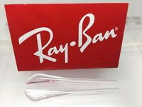 Authentic Rayban Rb Aviator Replacement Clear Temple (arm) Tips Ray-ban