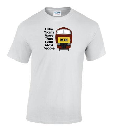 I Like Trains plus que je comme la plupart des gens-Classe 52 BORDEAUX Chemin de fer T-Shirt