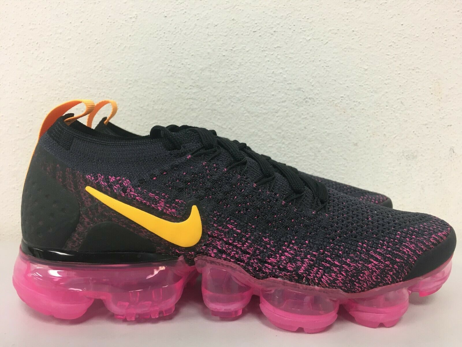 ca72cef13a1a Nike Vapormax Flyknit 2 Pink Gridiron Laser Orange 942843-008 Womens ...