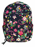 Vera Bradley Laptop Backpack In Ribbons With Pink Interior -