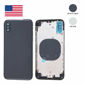 Back-Glass-Housing-Battery-Cover-Frame-Assembly-Replacement-For-iPhone-X-OEM-USA